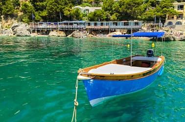 Rent a boat on Capri, Italy - Marina Piccola